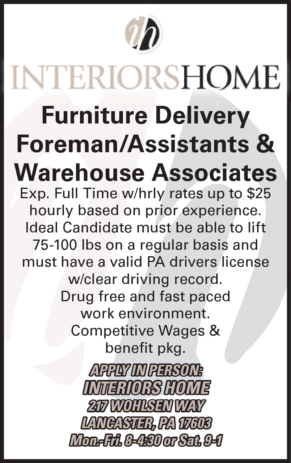 Warehouse Associates Interiors Home Lancaster PA