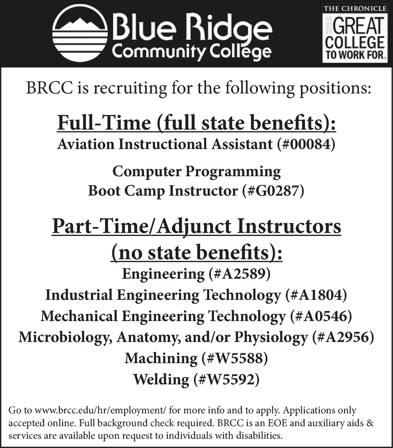 Adjunct Instructor - Microbiology, Anatomy, and/or