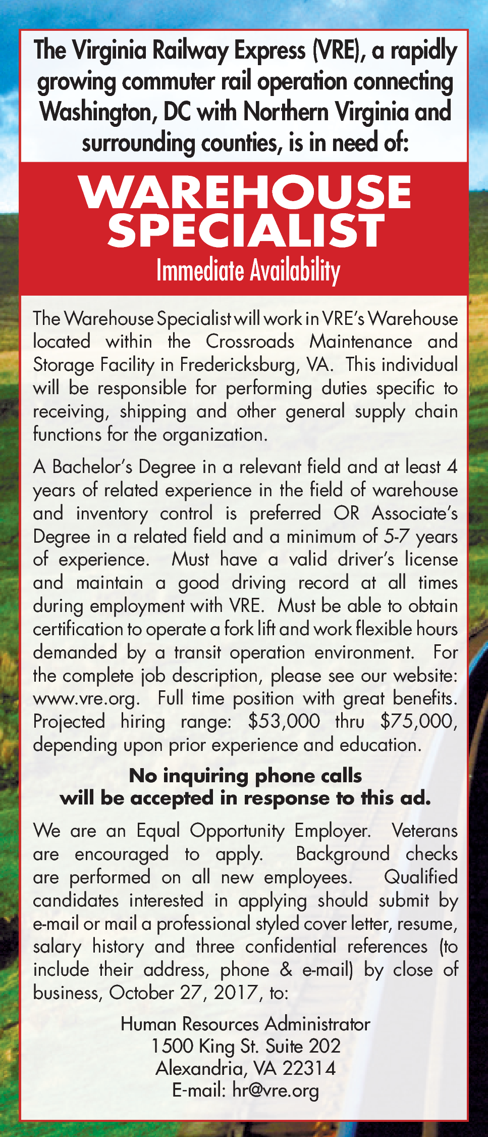warehouse specialist - Warehouse Specialist